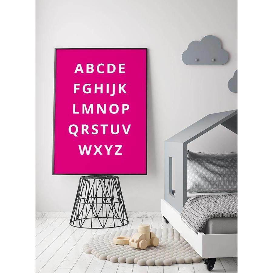 Alfabet poster - fuchsia-4