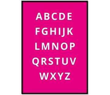 Lievespulletjes Alfabet poster - fuchsia