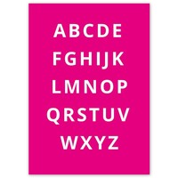 thumb-Alfabet poster - fuchsia-3