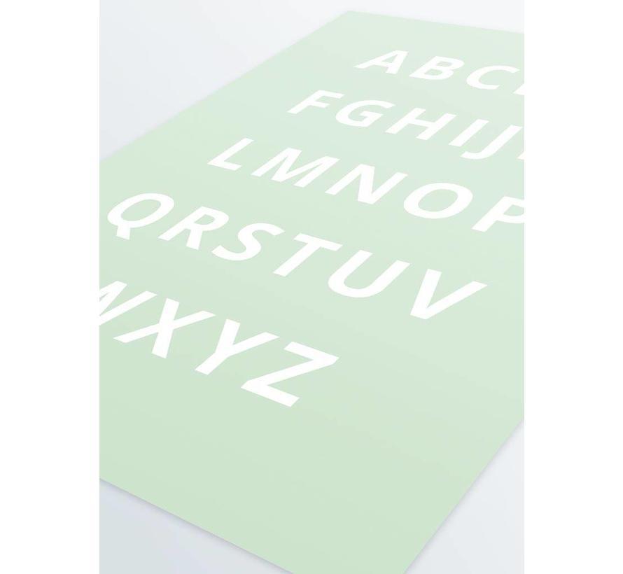 Alfabet poster - mintgroen