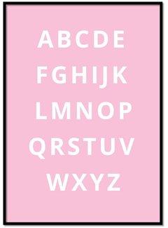 Lievespulletjes Alfabet poster - roze