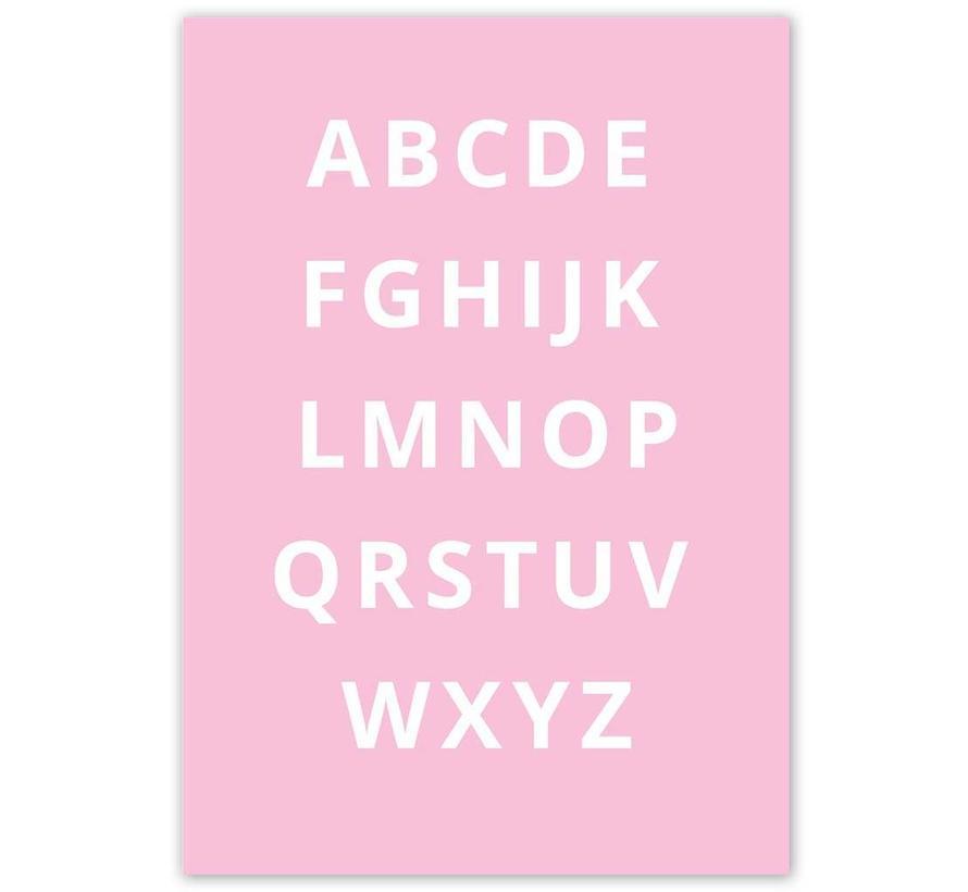 Alfabet poster - roze