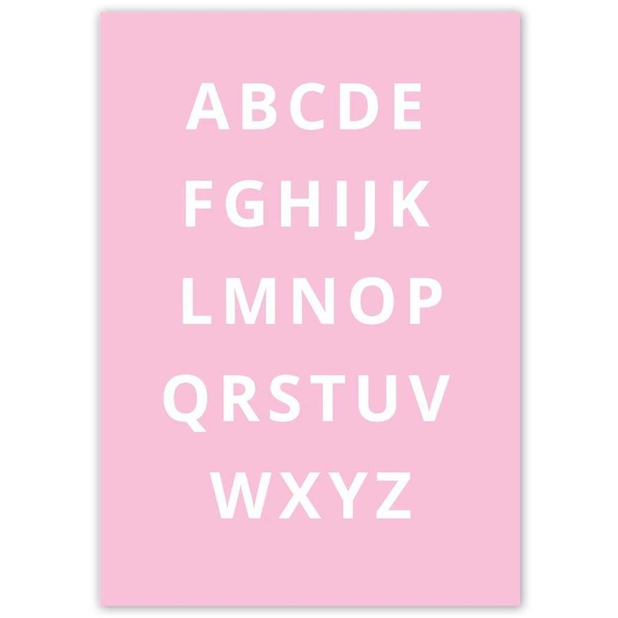 Alfabet poster - roze-3