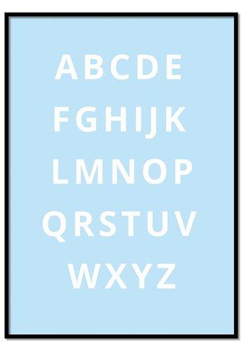 Alfabet poster - blauw
