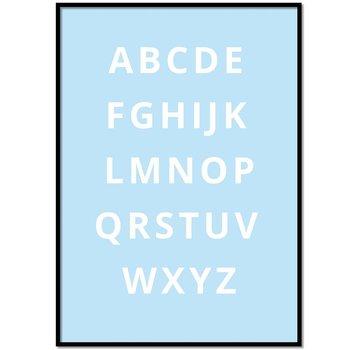Lievespulletjes Alfabet poster - blauw