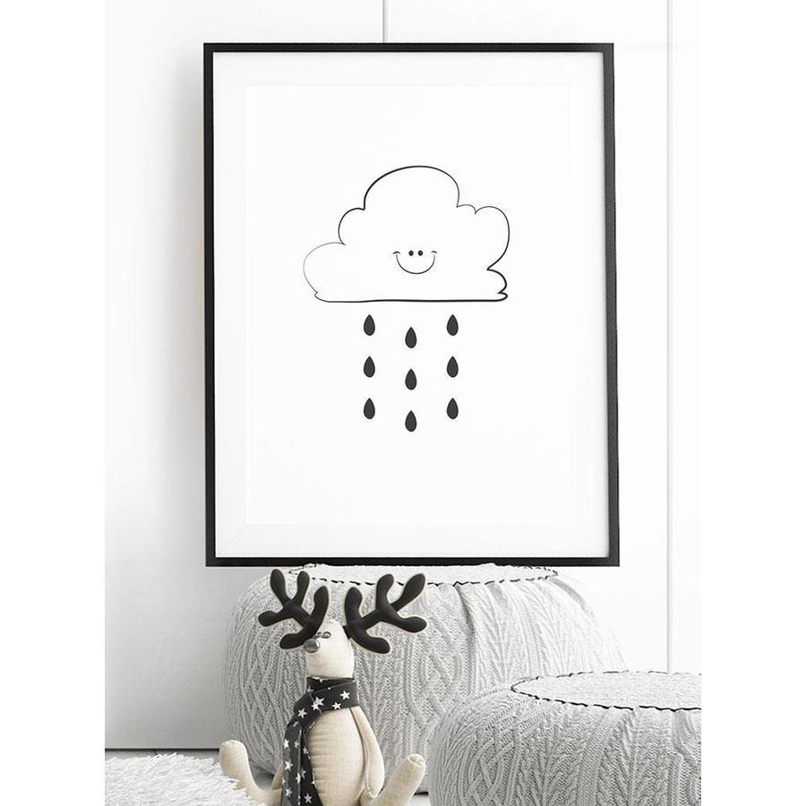Poster kinderkamer: Lief regenwolkje-4