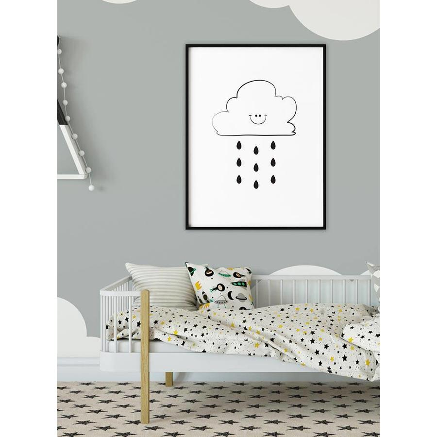 Poster kinderkamer: Lief regenwolkje-5