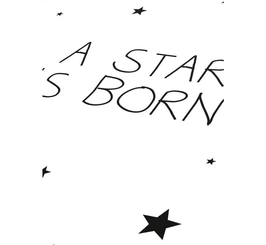 Poster kinderkamer: A star is born - wit
