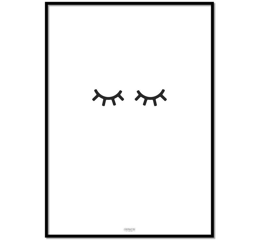 Poster kinderkamer: oogjes dicht