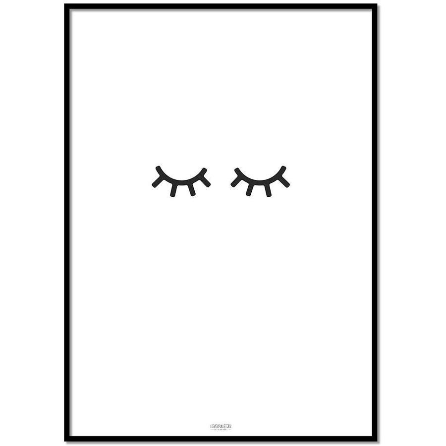 Poster kinderkamer: oogjes dicht-1