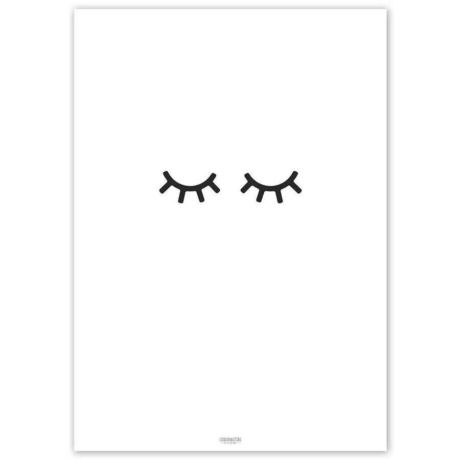Poster kinderkamer: oogjes dicht-3