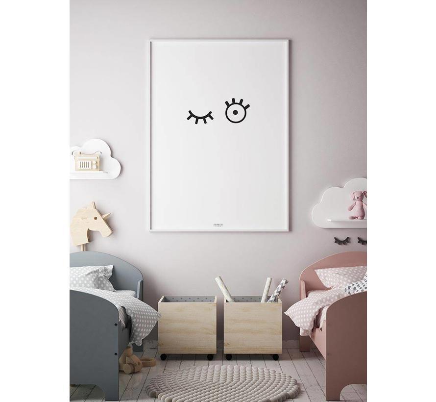 Poster kinderkamer: kiekeboe
