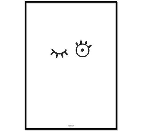 Lievespulletjes Poster kinderkamer: kiekeboe