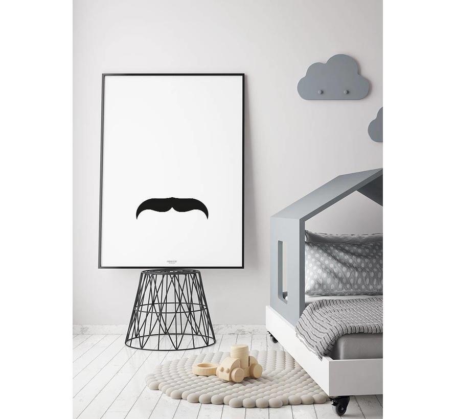 Poster kinderkamer: mustache