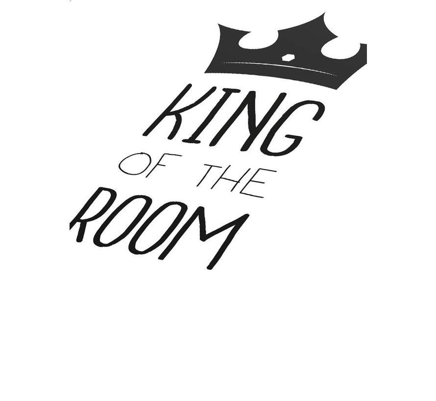 Poster kinderkamer king of the room zwart wit