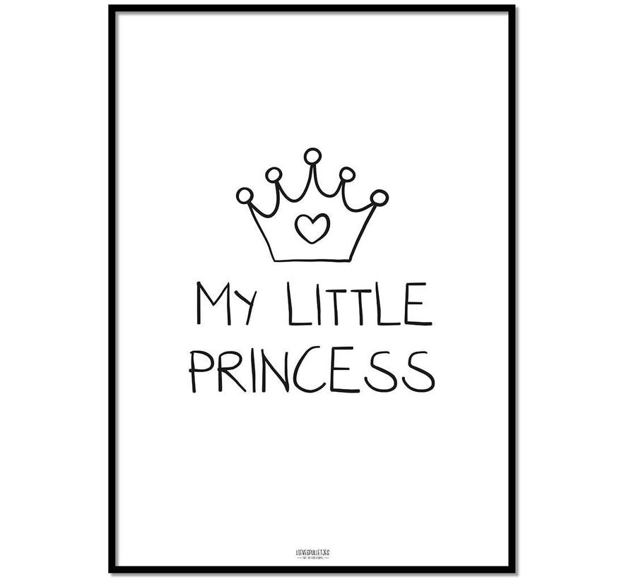 Poster kinderkamer: My Little Princess zwart wit
