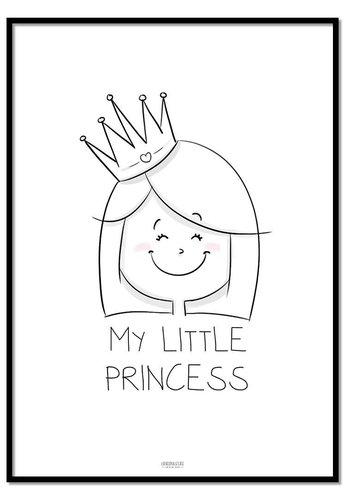 Poster prinsesje met tekst My Little Princes