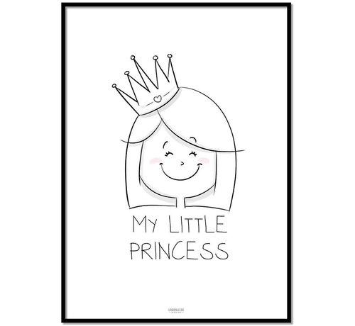 Lievespulletjes Poster kinderkamer prinsesje met tekst My Little Princes