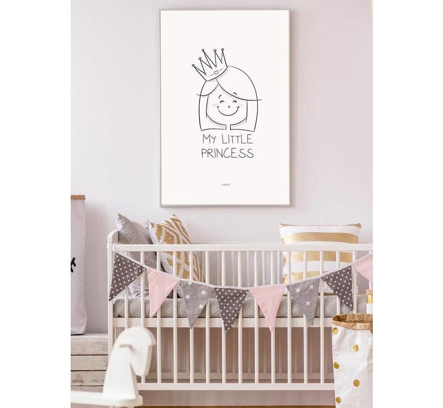 Poster kinderkamer prinsesje met tekst My Little Princes
