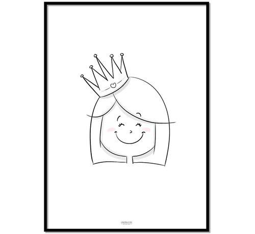 Lievespulletjes Poster kinderkamer: Prinsesje