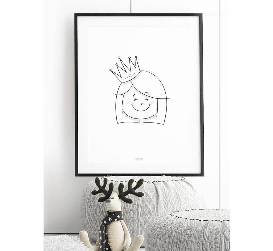 Poster kinderkamer: Prinsesje