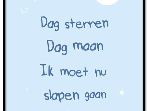 Lievespulletjes Poster dag sterren dag maan blauw