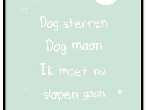 Lievespulletjes Poster dag sterren dag maan mint