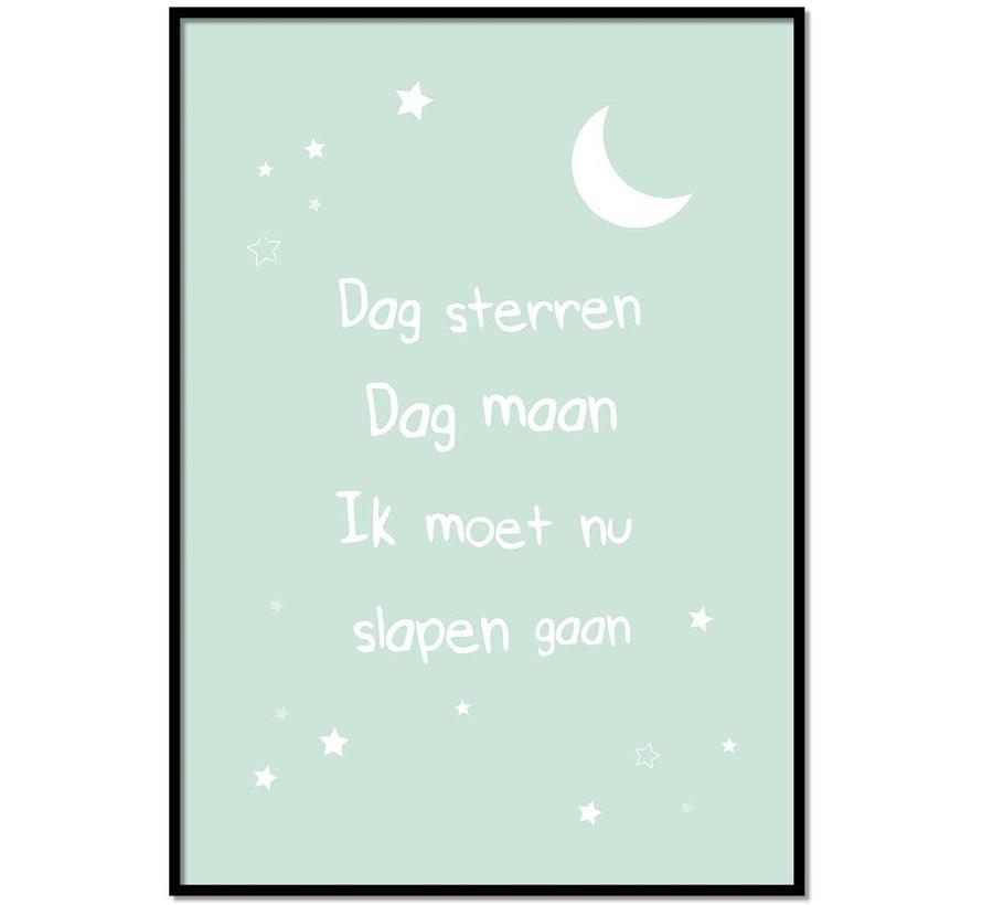 Poster dag sterren dag maan mint