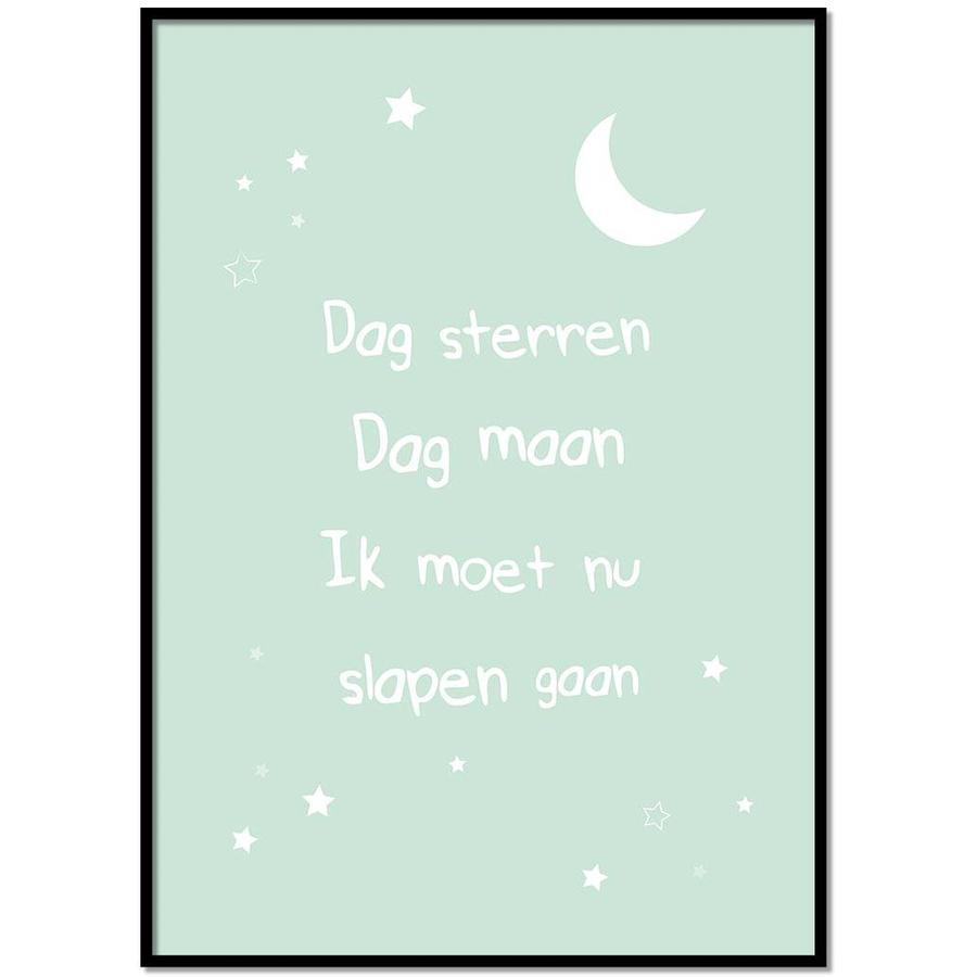 Poster dag sterren dag maan mint-1