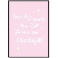 thumb-Poster Sweet Dreams Sleep Tight We Love You Goodnight roze-1