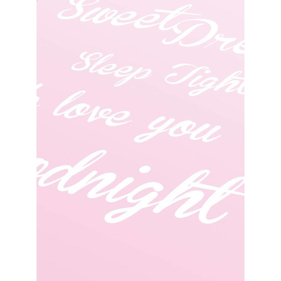 Poster Sweet Dreams Sleep Tight We Love You Goodnight roze-3