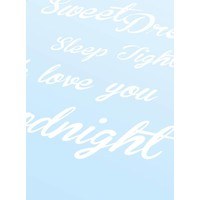 thumb-Poster Sweet Dreams Sleep Tight We Love You Goodnight blauw-3