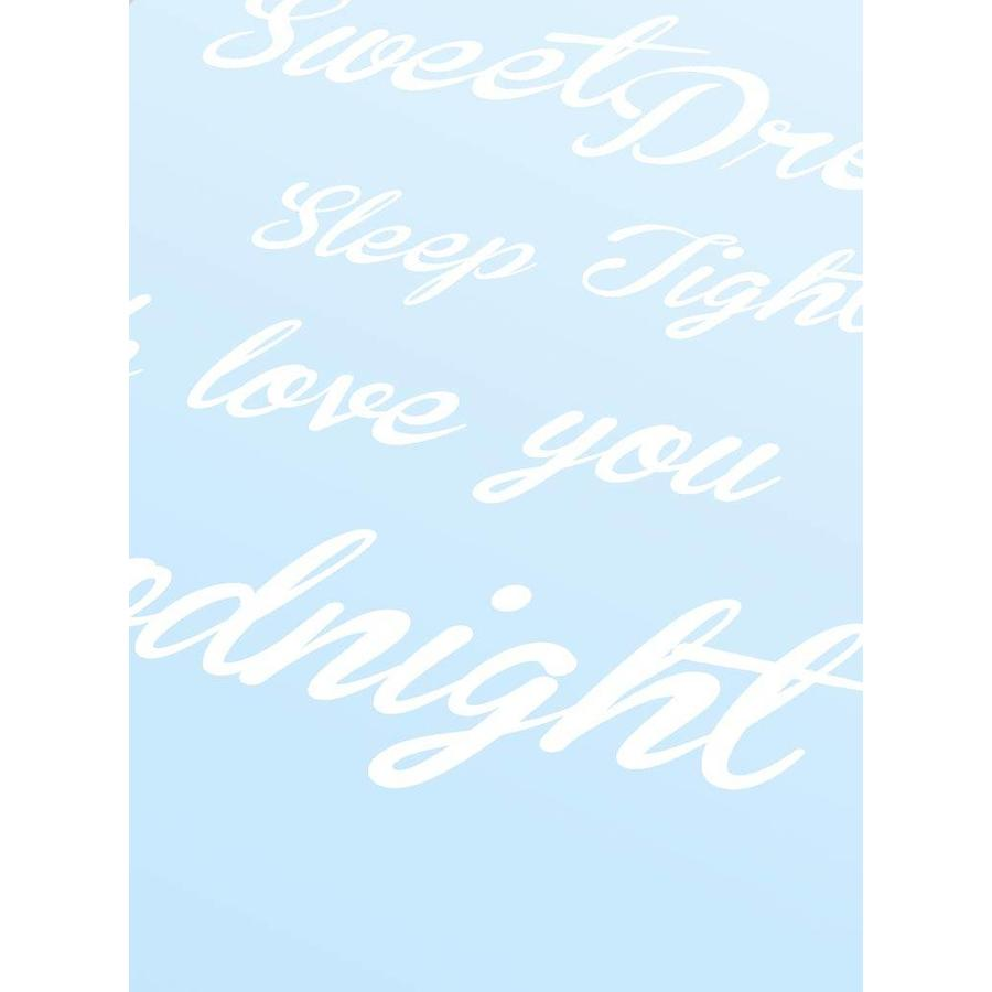 Poster Sweet Dreams Sleep Tight We Love You Goodnight blauw-3