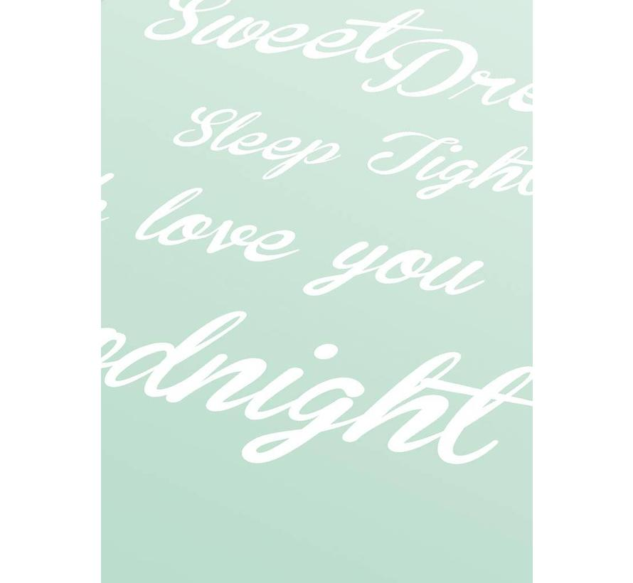 Poster Sweet Dreams Sleep Tight We Love You Goodnight mint