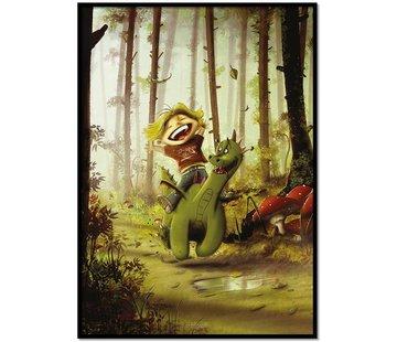 Lievespulletjes Roy Korpel original: draakje en zijn vriendje