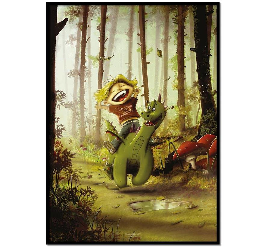 Roy Korpel original: draakje en zijn vriendje