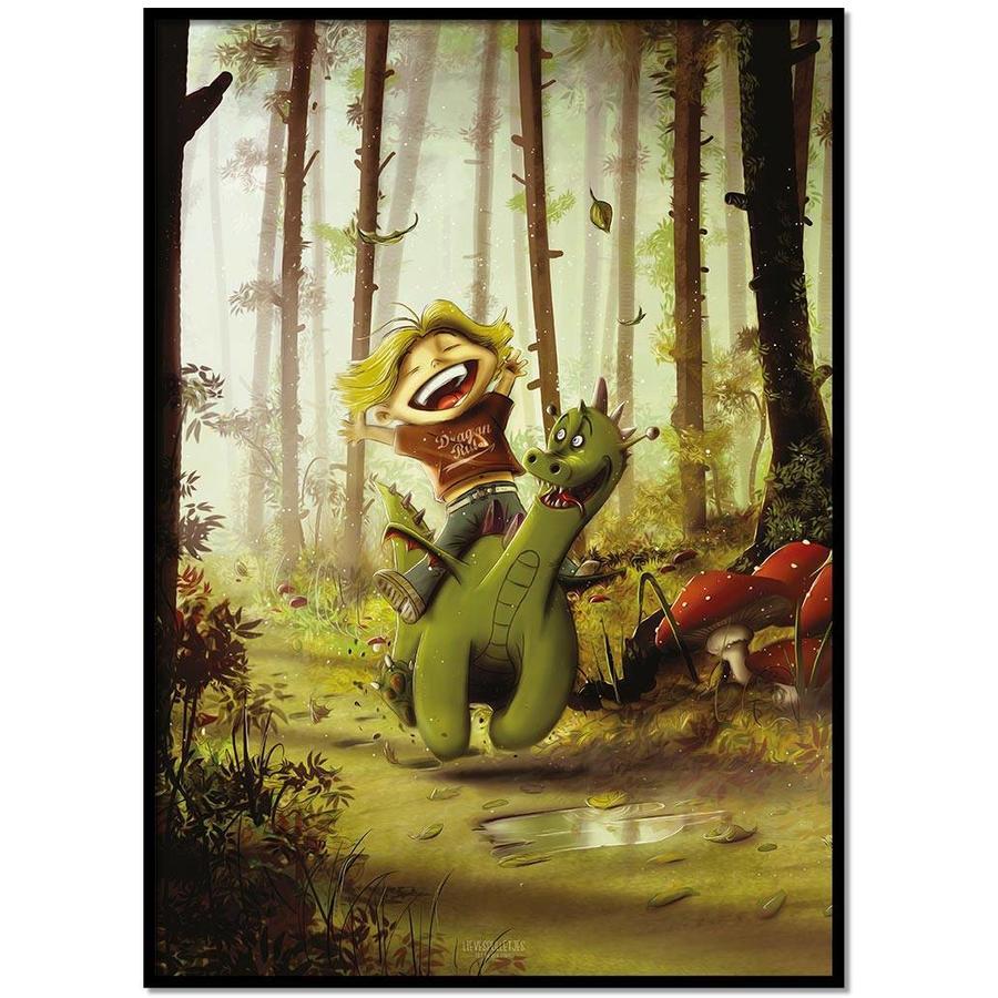 Roy Korpel original: draakje en zijn vriendje-1
