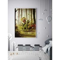 thumb-Roy Korpel original: draakje en zijn vriendje-3