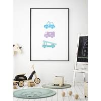 thumb-Poster babykamer politie ziekenauto brandweerwagen-4