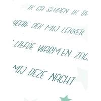 thumb-Poster christelijk kindergebed ik ga slapen ik ben moe mint-3