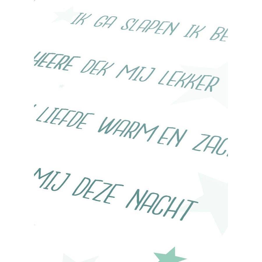 Poster christelijk kindergebed ik ga slapen ik ben moe mint-3