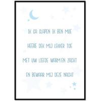 thumb-Poster christelijk kindergebed ik ga slapen ik ben moe nr2 blauw-1