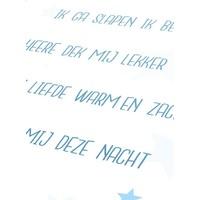 thumb-Poster christelijk kindergebed ik ga slapen ik ben moe nr2 blauw-5