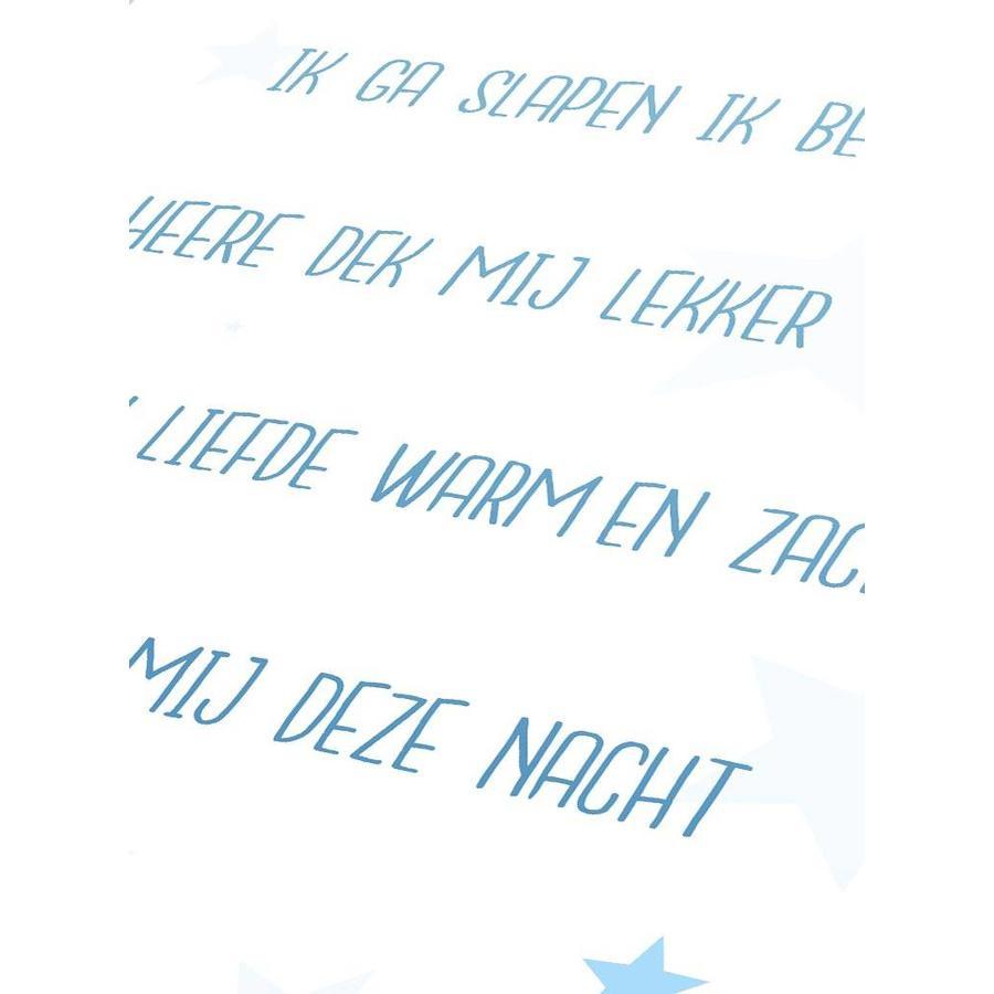 Poster christelijk kindergebed ik ga slapen ik ben moe nr2 blauw-5