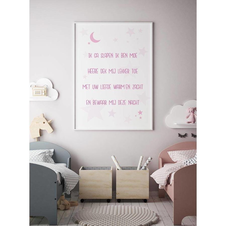Poster christelijk kindergebed ik ga slapen ik ben moe nr2-4