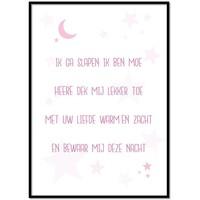 thumb-Poster christelijk kindergebed ik ga slapen ik ben moe nr2-1