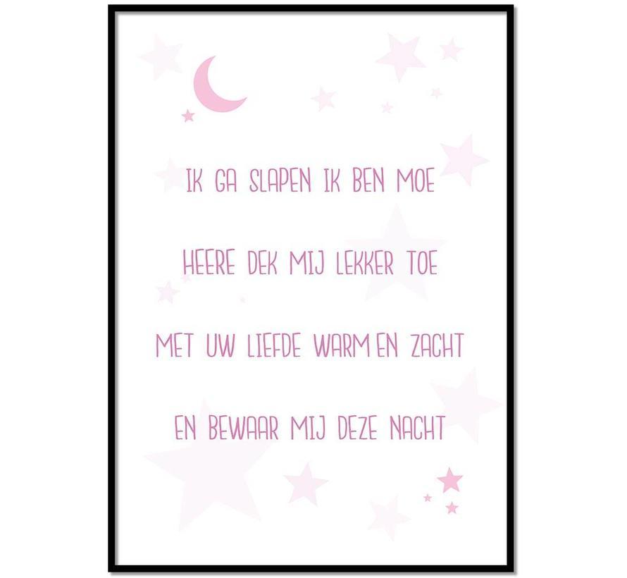 Poster christelijk kindergebed ik ga slapen ik ben moe nr2