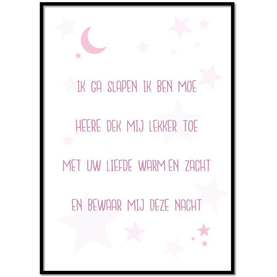 Poster christelijk kindergebed ik ga slapen ik ben moe nr2-1