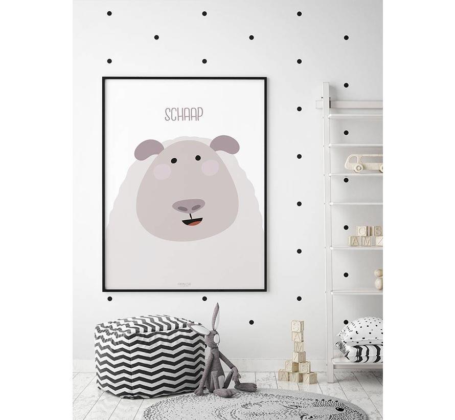 Poster kinderkamer schaap met tekst