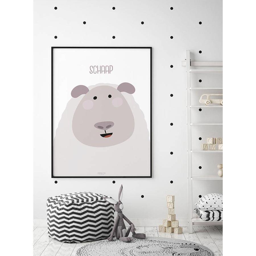 Poster kinderkamer schaap met tekst-3